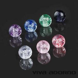 1,2 to 0 63/1000in Piercing Screw-Ball Glitter Glitter Spare Clasp ball Z338