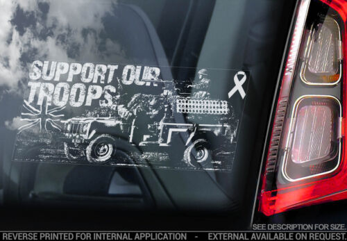 Support Our Troops Land Rover Proceeds to Help For Heroes Car Window Sticker