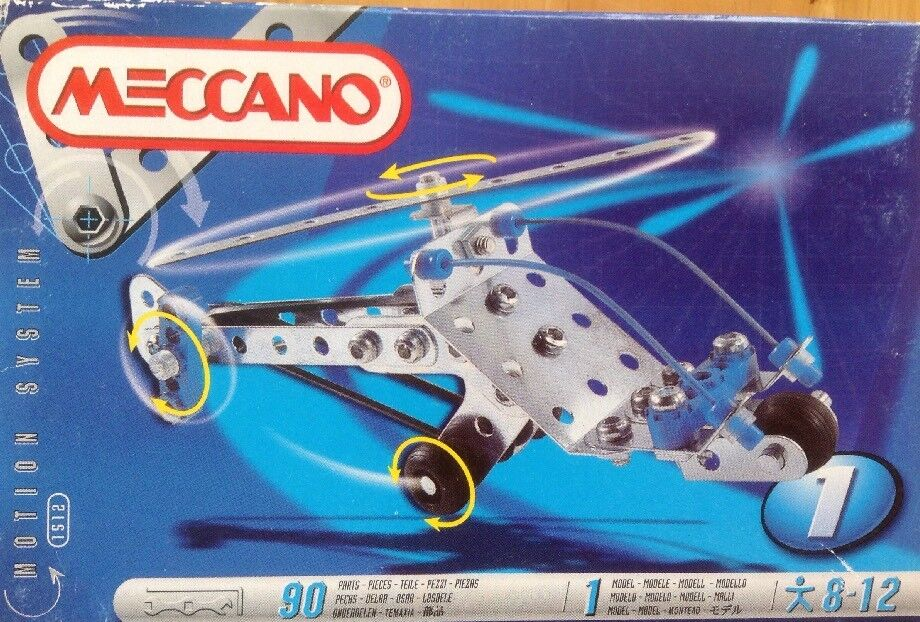 MECCANO 1512 MOTION SYSTEM NEW SEALED BOX 90 PARTS TOOLS & INSTRUCTIONS INCLUDED
