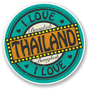 2 X Bangkok Thailand Sticker Car Bike Ipad Laptop Travel