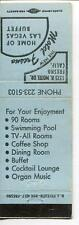 MATCHBOOK HOTEL FRESNO HOME OF THE LAS VEGAS BUFFET CALIFORNIA COFFEE SHOP POOL