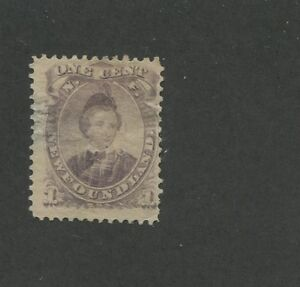 1894 Newfoundland Edward Prince of Whales 1 Cents Thin Postage Stamp #32