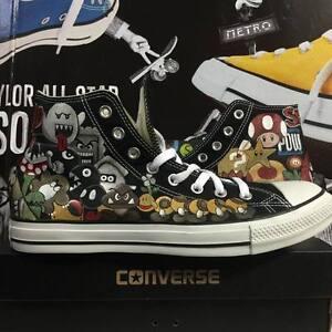 Converse-All-Star-Custom-Super-Mario-Bros-Shoes-Scarpe-Uomo-Donna-Unisex-shoe