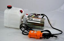Single Acting 12 Volt Dc Hydraulic Power Unit 4 Quart Poly Tank
