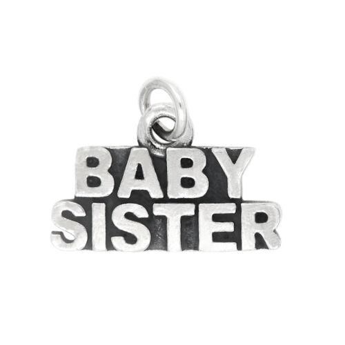 Sterling Silver petite soeur Charme Pendentif