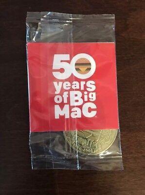 MACCOIN Big Mac 50th Anniversary Coin 1998-2008 Sealed McDonalds Collectible NEW