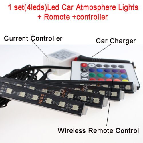 Colorful LED Interior Kit Glow Under Dash Foot Well Seats Inside For Chevrolet