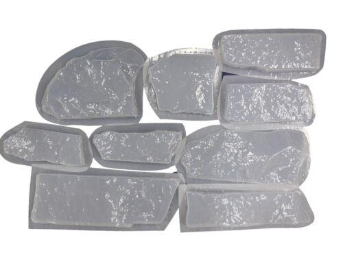 10 Ledge stone Brick Facing Veneer Concrete Cement Molds  6034a Moldcreations
