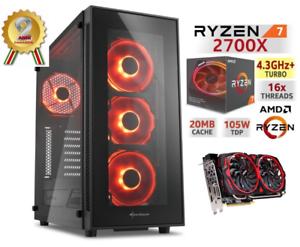 Dettagli su Gaming PC AMD RYZEN 7 2700X 4,3Ghz RTX 2070 RAM 16GB SSD  FORTNITE Windows10 LED