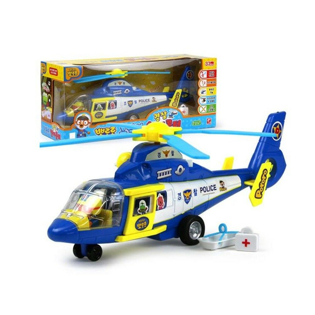 Pororo Friction Police Helicopter Toddler Kids Toy for Gift 37 Months +