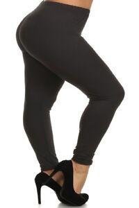 24dc9ebb4c645 Women's Plus Size 3X5X Leggings Buttery Soft Black Leggings USA | eBay