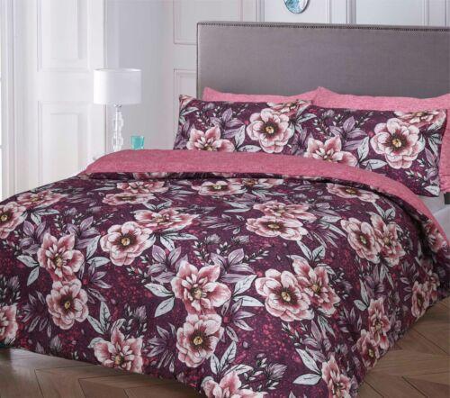 Duvet Cover Bedding Set Single Double King Super Size Pink Blue Black White Grey