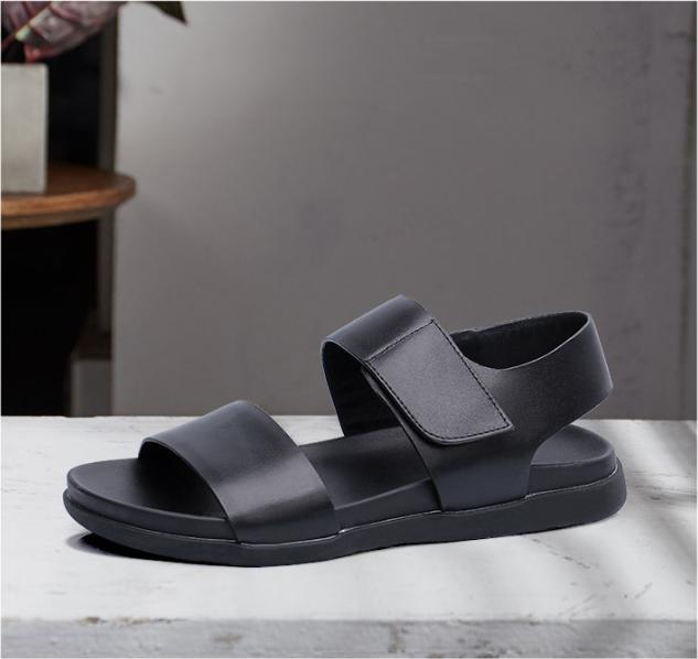 Summer Mens Roman Open Toe Buckle Casual Flats Leather Beach Buckle Toe Sandals Comfy Shoes 7dafd2