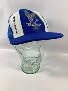 Vintage-Air-Force-Falcons-Trucker-Mesh-Snapback-Hat-Lucky-Stripes-D1