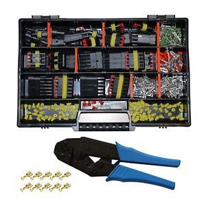 AMP-Superseal-Starter-Set-Stecker-1-6-pol-KFZ-LKW-Motorrad-Crimpzange-fuer-FSH