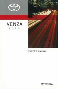 2010 toyota venza owners manual user guide reference operator book rh ebay com toyota venza user manual 2011 toyota venza owner manual