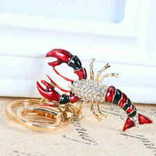 Scorpion Lobster Cute Pendant Crystal Purse Bag Ring Keychain Accessories Gift