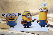 """The Minions Dave, Stuart and Tim Figure Tabletop Display Standee 10 1/2"""" Long"""