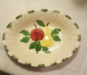Blue-Ridge-Southern-Pottery-Fruit-Apple-and-Pear-Serving-Bowl