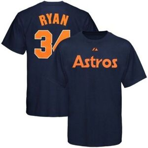 best loved 349ac bb2ae Details about Nolan Ryan #34 Houston Astros Cooperstown T-shirt 5XL Tall  Jersey Style Navy MLB