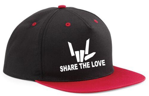 Snapback Word Partager l/'amour Hat Cap réglable youtuber Sharer YouTube