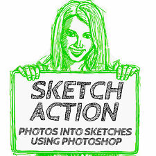 TURN DIGITAL PHOTOS INTO SKETCHES PHOTOSHOP (7+) ACTION