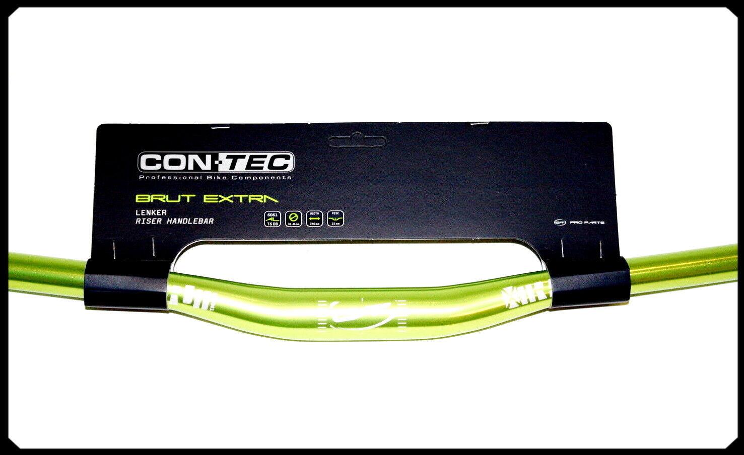 CONTEC MTB-Lenker  Brut Extra Extra Extra Select , Low Riser Bar, Griffweite 780 mm, grün  | Grüne, neue Technologie  7a42d9