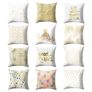 Am-KE-Shinning-Gold-Printed-Throw-Pillow-Case-Sofa-Cushion-Cover-Home-Decor-Ey