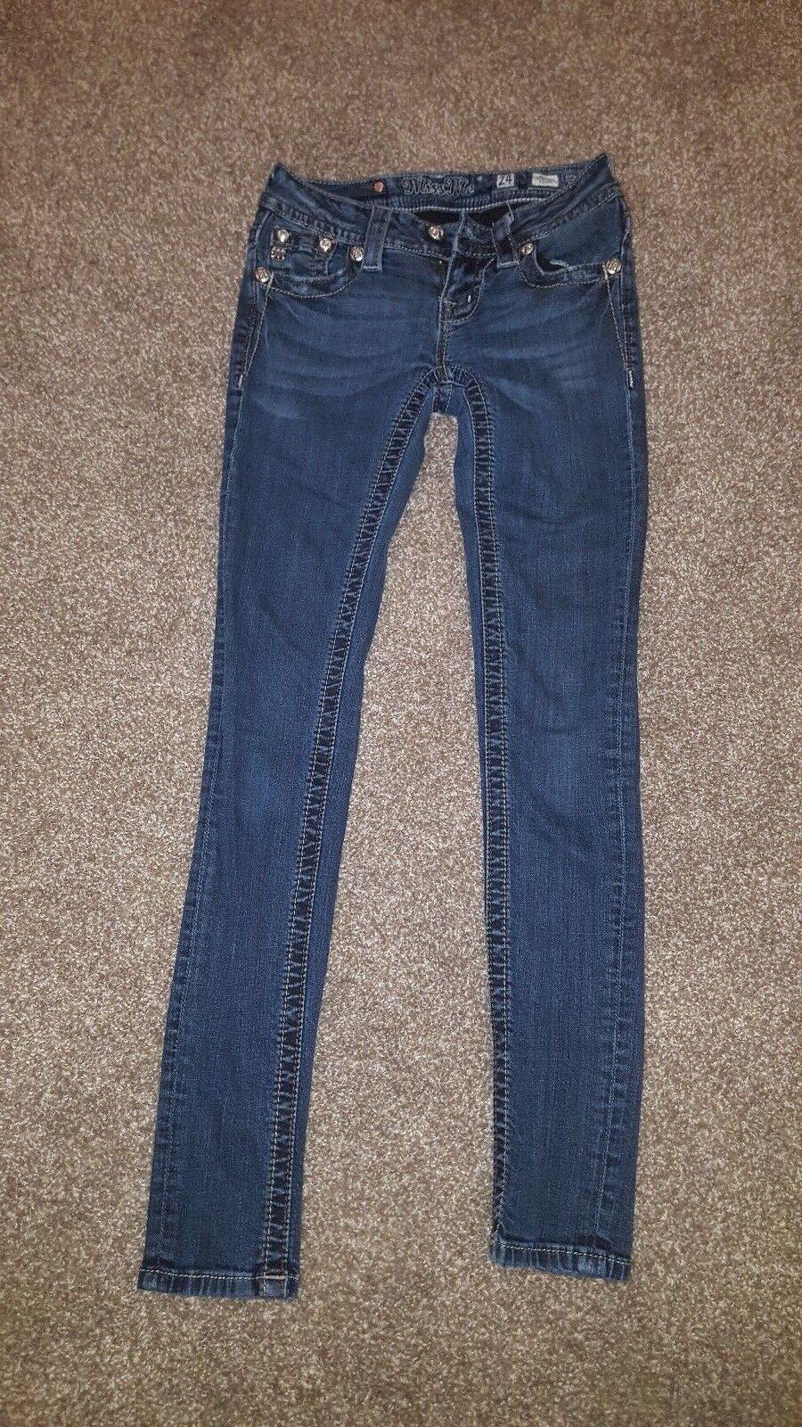 Miss Me Skinny Jeans size 24x29