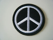 CND PATCH Large Embroidered Iron On Peace Logo Anti Nuclear Greenpeace Badge NEW