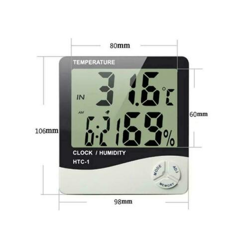 Digital LCD Thermometer Hygrometer Humidity Meter Room Indoor Temperature A+