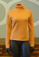 ANN TAYLOR Orange 100% Two Ply Cashmere Turtle Neck Sweater - Small