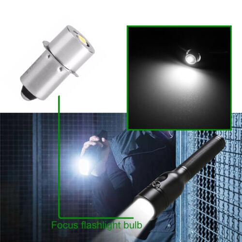 2 × 1W 3V P13.5S LED Bulb Flashlight Maglite Torch Light 2 C D Cells Work Bulbs