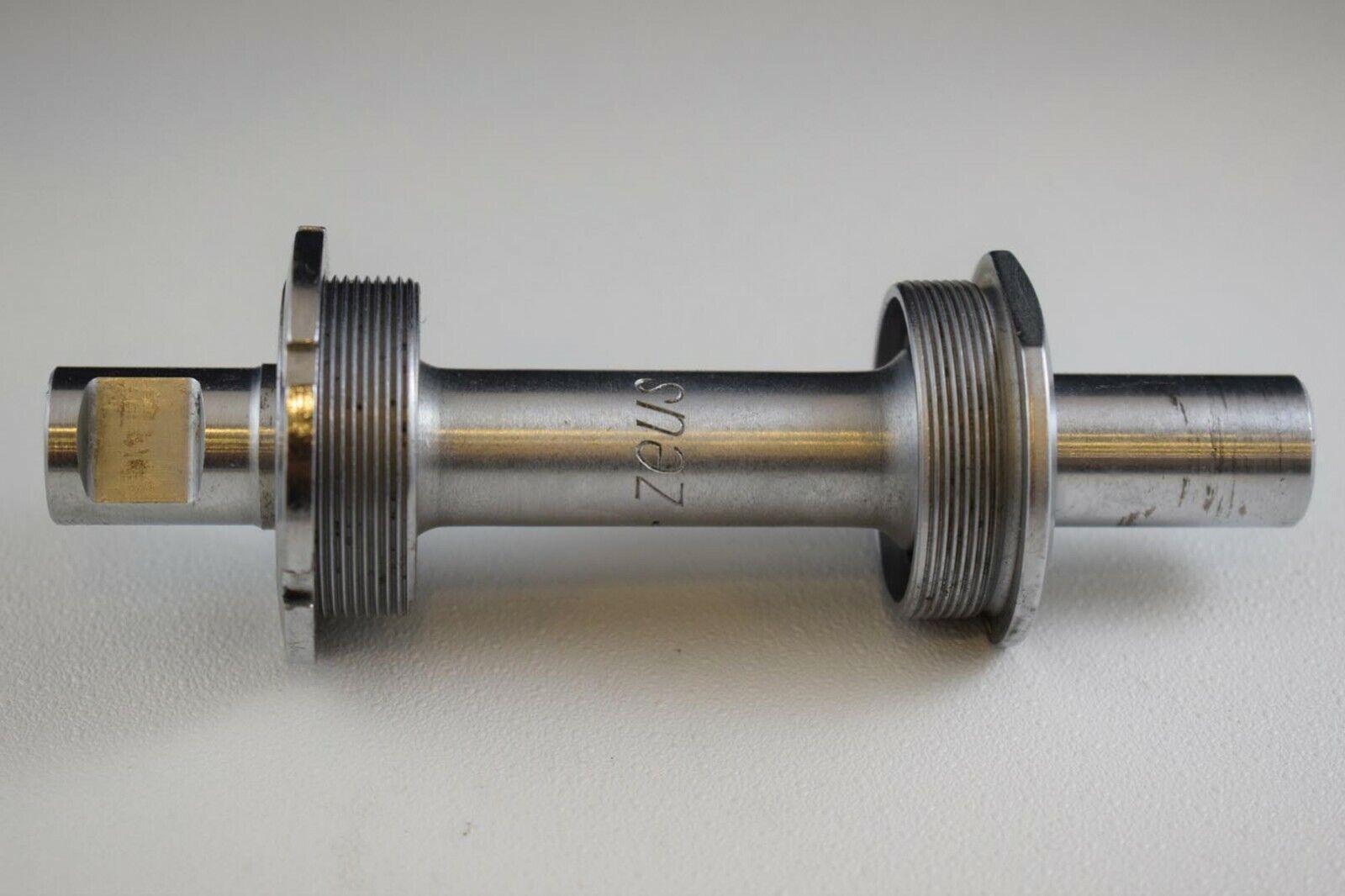 Soporte inferior ZEUS 127mm cotterojo BSA Inglés Hilo Suare Plata Vintage nuevo viejo Stock