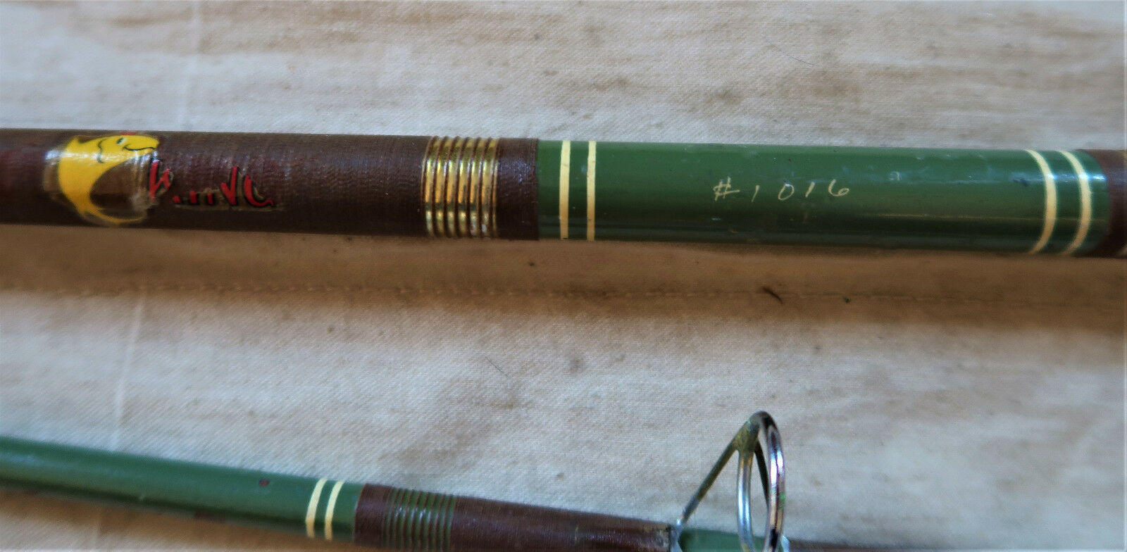 Vintage Tuna King Fishing rod  by Western Hoegee 2pc 9ft