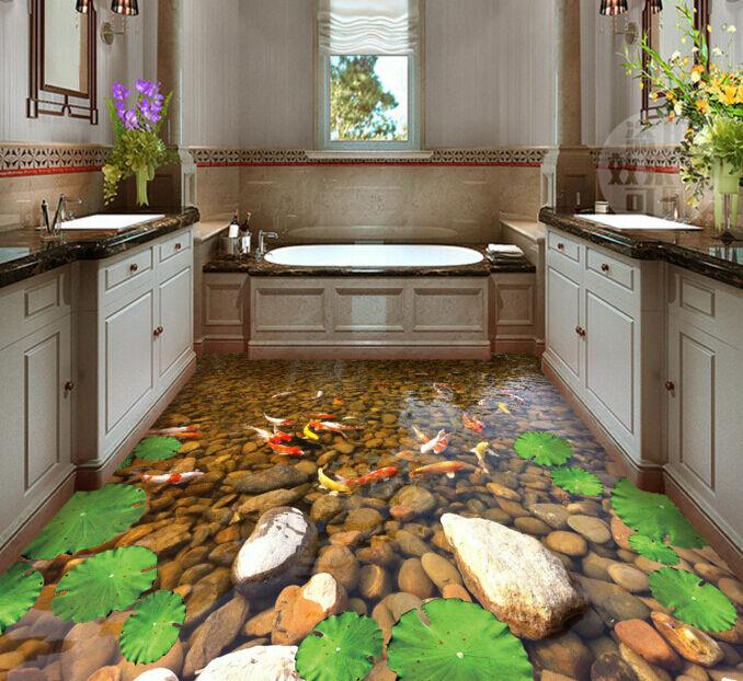 3D Karpfen 753 Fototapeten Wandbild Fototapete Tapete Familie DE Lemon