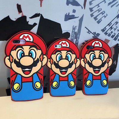 3D Super Mario Soft Silicone Phone Case Rubber Cover For iPhone SE 5 6 7 Plus