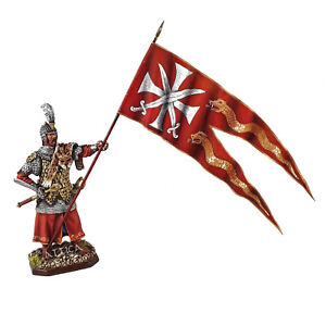 Tin Soldier, collector, Winged hussar, Polish standard bearer, Poland, 54 mm