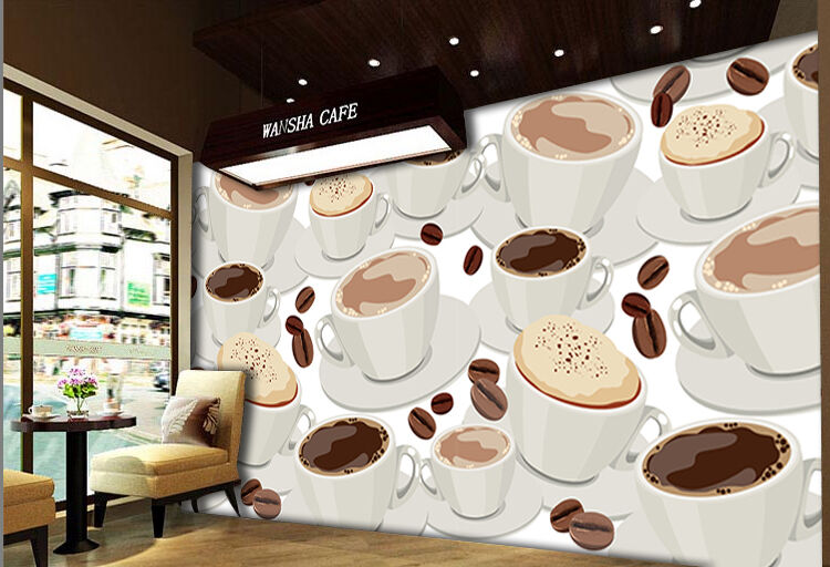 3D Coffee Beans Cartoon Art 092 Wall Paper Wall Print Decal Wall AJ WALLPAPER CA
