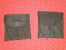 two SEPARATE   POUCHES,DOUBLE,WEB,CARBIN,Cal.30 M-1 U.S.ARMY VIET-NAM WAR,2