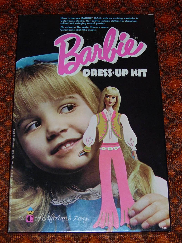 Farbeforms barbie dress up kit mattel mib ungenutzte 1970 usa