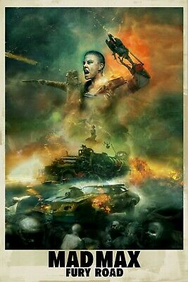 Mad Max 3 Movie Poster Canvas Picture Art Print Premium Quality  A0 A4