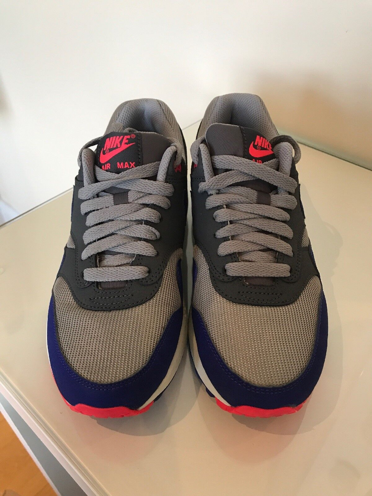 info for 12c84 f0eac Air Max 1 Essential UK 5.5 - Dark grau grau grau Solar rot (Code 537383  006) a2714a