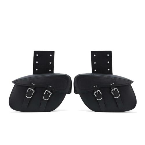 Universal Motorcycle Tool Saddlebags Leather For Harley Davidson Street Glides