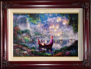 Thomas-Kinkade-Tangled-18-x-27-GP-Limited-Edition-Canvas-Disney-Rapunzel