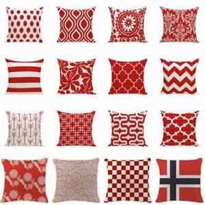 Simple-geometrique-rouge-vague-Housse-De-Coussin-Throw-Pillow-Case-Sofa-Car-Home-Decor