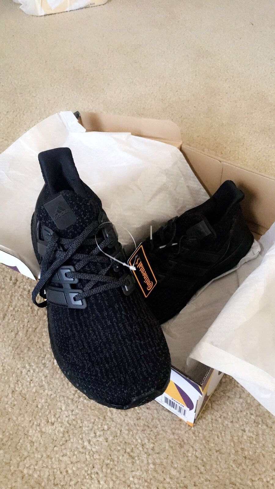 ADIDAS ULTRA BOOST TRIPLE BLACK 3.0 S31508 SIZE 8