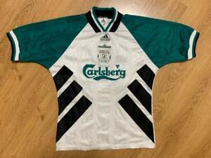 "Liverpool 1993/1995 Away Football Shirt Jerses #10 Barton Size 38""-40"""