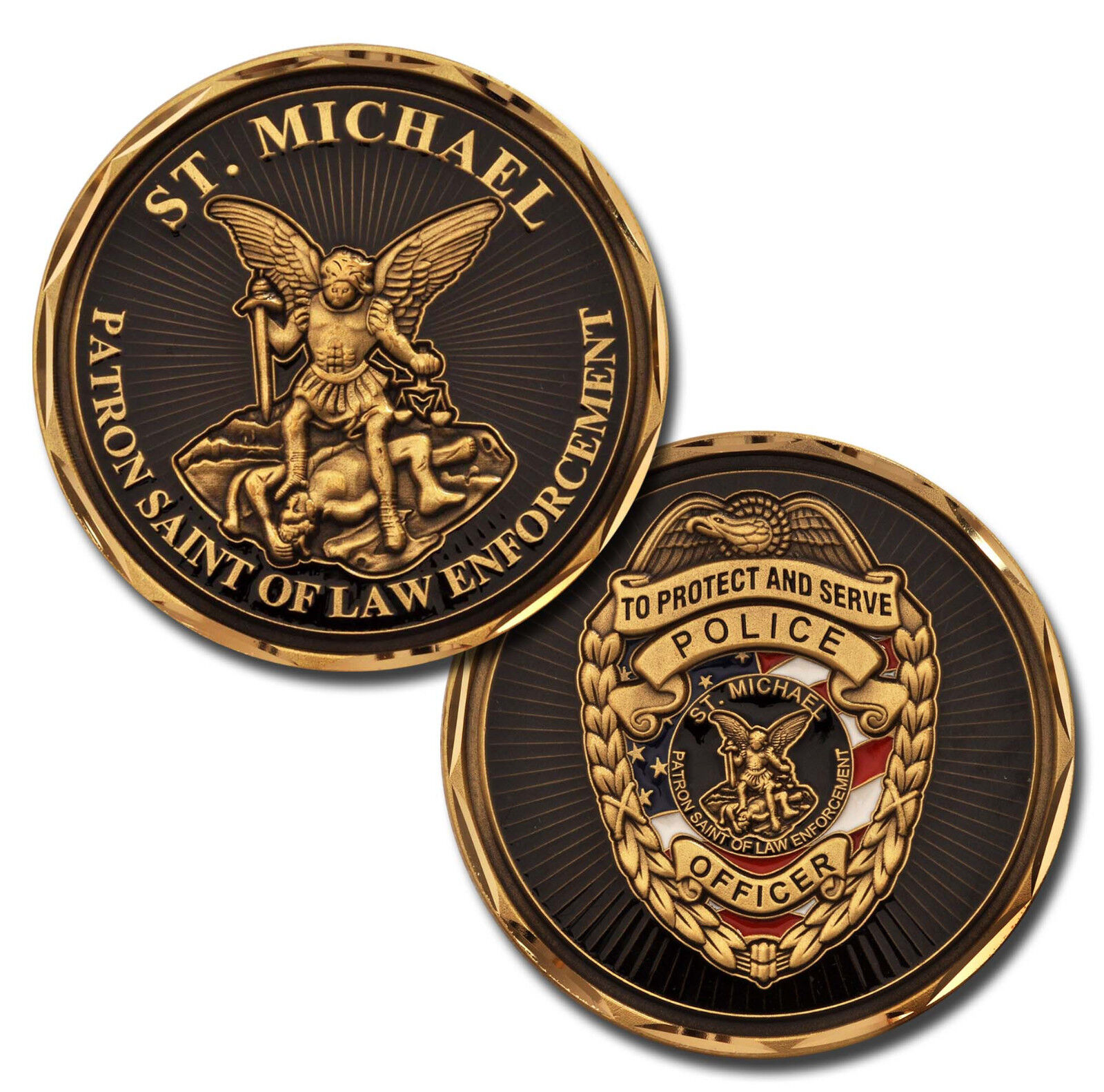 St Michael Police Officer Law Enforcement Challenge Coin