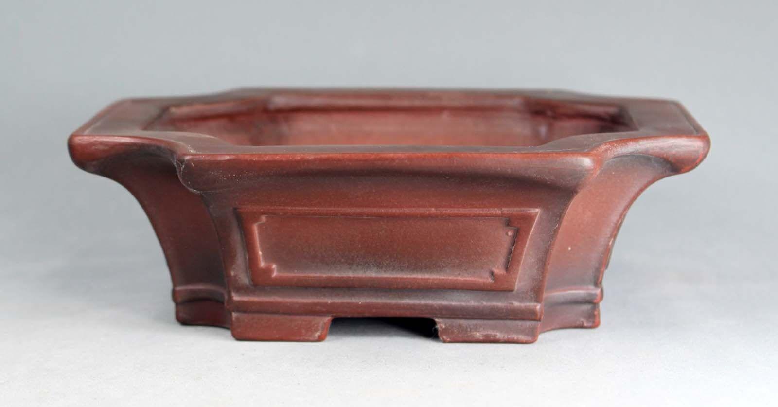 Tokoname Rect. Bonsai Pot by Bigei,  bigei126, 158133H51mm